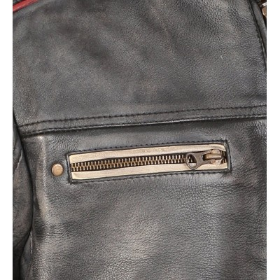 Cafe Racer Retro Moto Distressed Leather Jacket