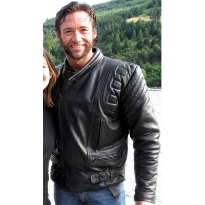 Black Hugh Jackman Wolverine Leather Jacket