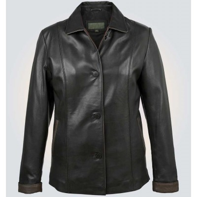 Carol Black Leather Jacket