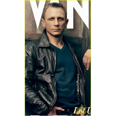Daniel Craig Vanity Fair Cover Leather Jacket
