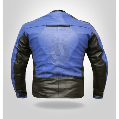 Dual Colored Cropped Suave Armor Motorcycle Jacket