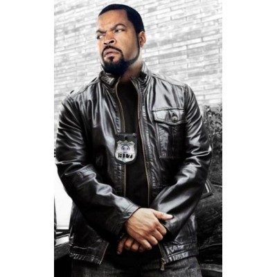Ride Along leather Jacket worn Payton Ice Cube James