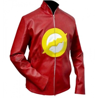 Stylish Red Flash Leather Jacket