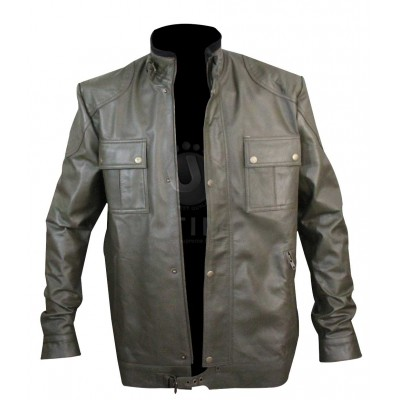 Wesley Gibson Wanted Movie Green Leather Jacket
