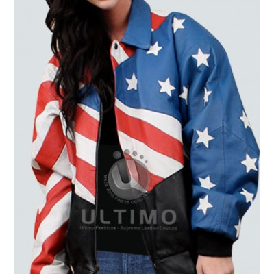 Women Flag Stylish Jacket